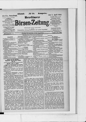 Berliner Börsen-Zeitung vom 05.04.1902
