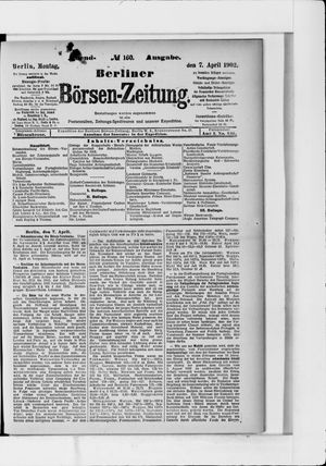 Berliner Börsen-Zeitung vom 07.04.1902