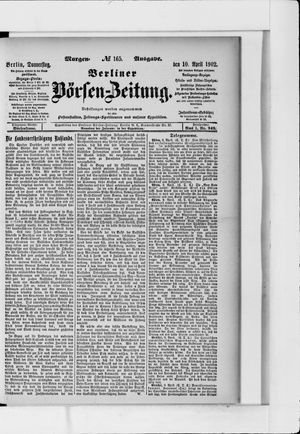 Berliner Börsen-Zeitung vom 10.04.1902