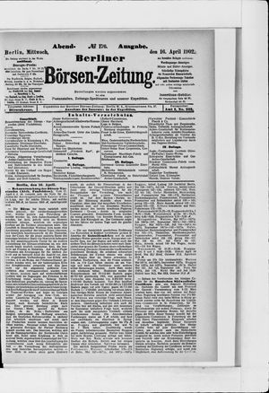 Berliner Börsen-Zeitung vom 16.04.1902