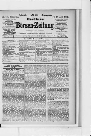 Berliner Börsen-Zeitung vom 19.04.1902