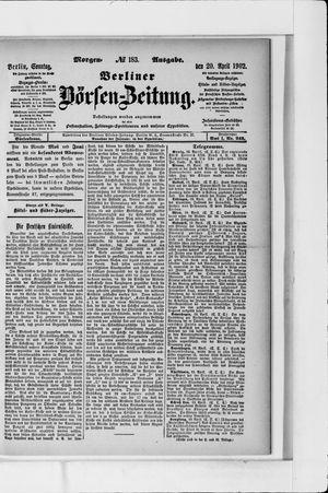 Berliner Börsen-Zeitung vom 20.04.1902