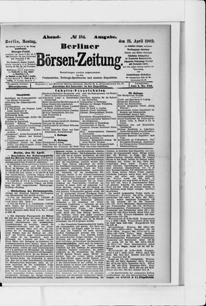 Berliner Börsen-Zeitung vom 21.04.1902