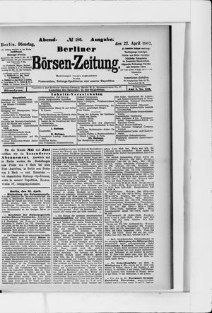 Berliner Börsen-Zeitung vom 22.04.1902