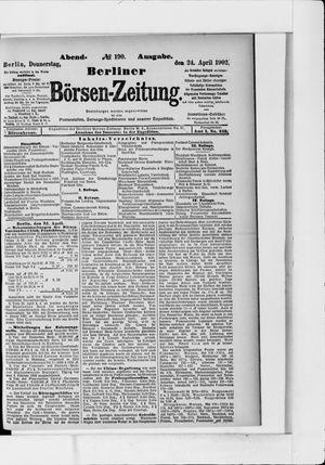 Berliner Börsen-Zeitung vom 24.04.1902