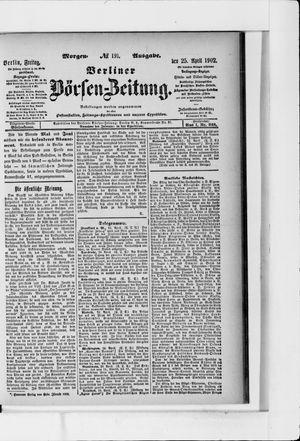 Berliner Börsen-Zeitung vom 25.04.1902