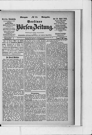 Berliner Börsen-Zeitung vom 26.04.1902