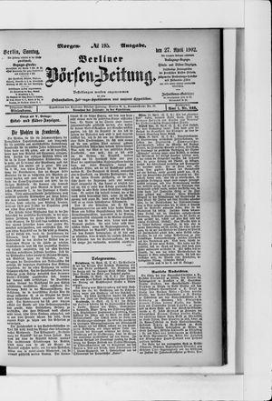 Berliner Börsen-Zeitung vom 27.04.1902