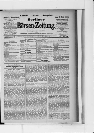 Berliner Börsen-Zeitung vom 03.05.1902