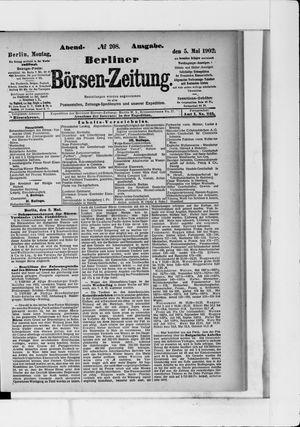 Berliner Börsen-Zeitung vom 05.05.1902