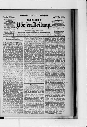 Berliner Börsen-Zeitung vom 07.05.1902