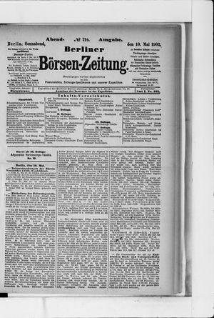 Berliner Börsen-Zeitung vom 10.05.1902