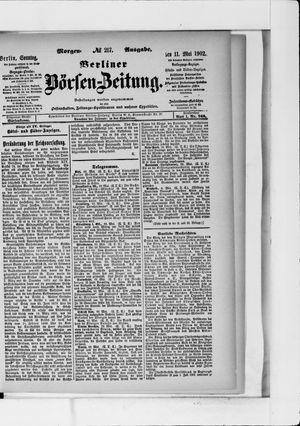Berliner Börsen-Zeitung vom 11.05.1902