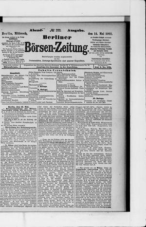 Berliner Börsen-Zeitung vom 14.05.1902