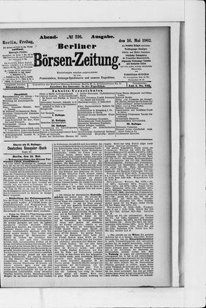 Berliner Börsen-Zeitung vom 16.05.1902