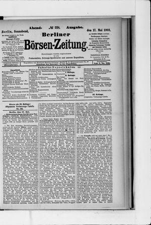 Berliner Börsen-Zeitung vom 17.05.1902