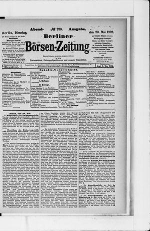 Berliner Börsen-Zeitung vom 20.05.1902