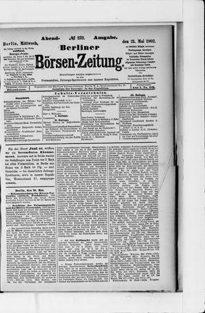 Berliner Börsen-Zeitung vom 21.05.1902