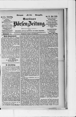 Berliner Börsen-Zeitung vom 22.05.1902