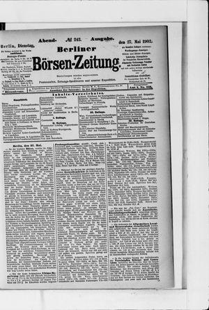 Berliner Börsen-Zeitung vom 27.05.1902