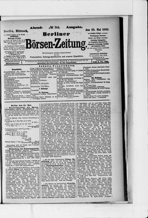 Berliner Börsen-Zeitung vom 28.05.1902