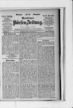 Berliner Börsen-Zeitung vom 29.05.1902