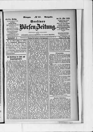 Berliner Börsen-Zeitung vom 30.05.1902