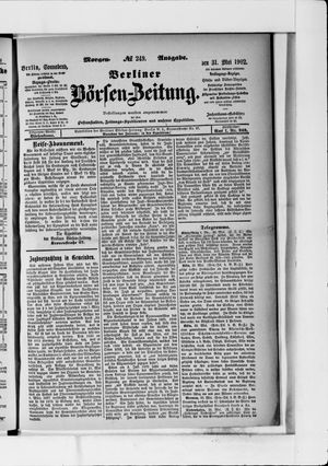 Berliner Börsen-Zeitung vom 31.05.1902