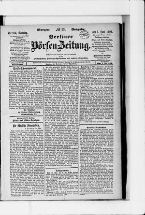 Berliner Börsen-Zeitung vom 01.06.1902