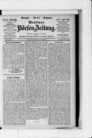 Berliner Börsen-Zeitung vom 05.06.1902