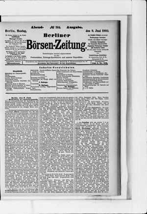 Berliner Börsen-Zeitung vom 09.06.1902