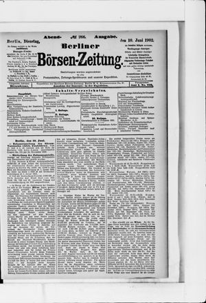 Berliner Börsen-Zeitung vom 10.06.1902