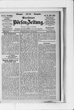 Berliner Börsen-Zeitung vom 12.06.1902