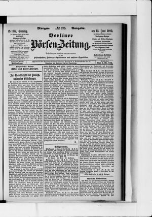 Berliner Börsen-Zeitung vom 15.06.1902
