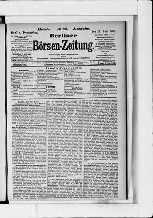 Berliner Börsen-Zeitung vom 19.06.1902