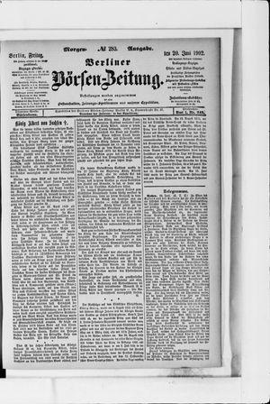 Berliner Börsen-Zeitung vom 20.06.1902