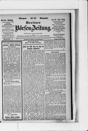 Berliner Börsen-Zeitung vom 22.06.1902