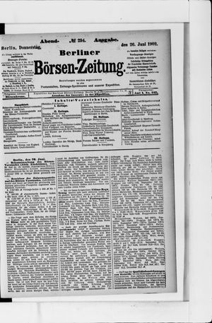 Berliner Börsen-Zeitung vom 26.06.1902