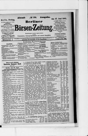 Berliner Börsen-Zeitung vom 27.06.1902