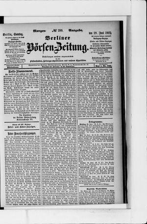 Berliner Börsen-Zeitung vom 29.06.1902