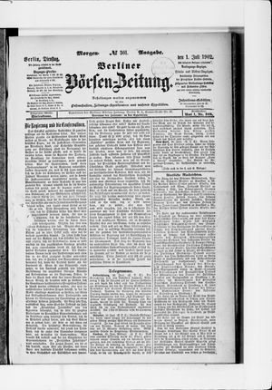 Berliner Börsen-Zeitung vom 01.07.1902