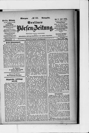 Berliner Börsen-Zeitung vom 02.07.1902