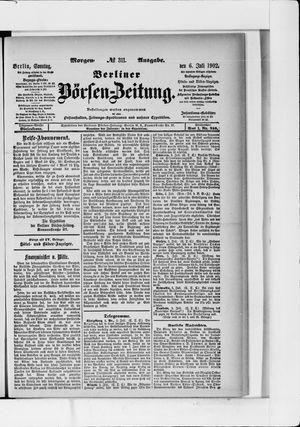 Berliner Börsen-Zeitung vom 06.07.1902