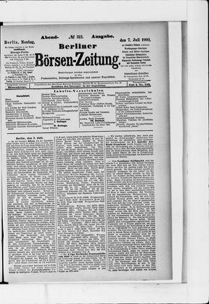 Berliner Börsen-Zeitung vom 07.07.1902