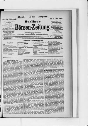 Berliner Börsen-Zeitung vom 09.07.1902