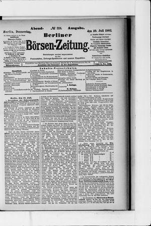 Berliner Börsen-Zeitung vom 10.07.1902