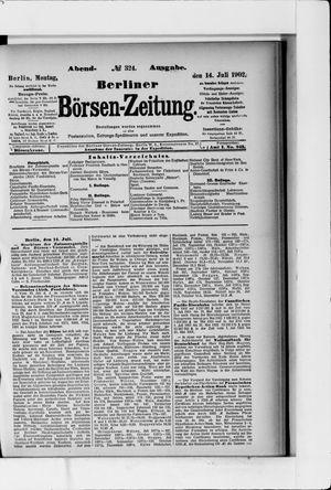 Berliner Börsen-Zeitung vom 14.07.1902