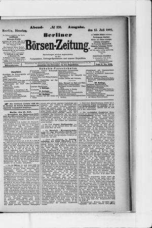 Berliner Börsen-Zeitung vom 15.07.1902