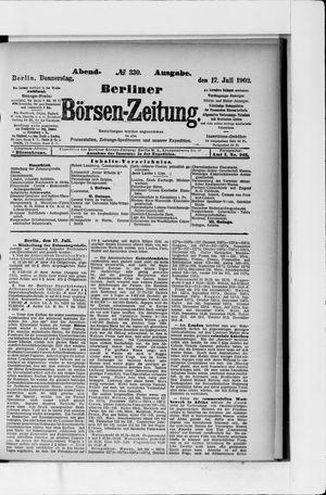 Berliner Börsen-Zeitung vom 17.07.1902