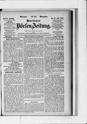 Berliner Börsen-Zeitung vom 20.07.1902
